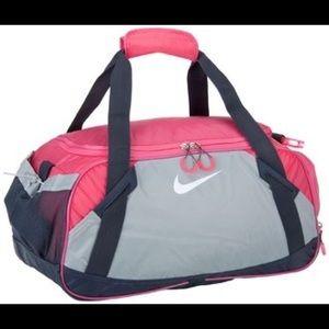 Nike Varsity 2.0 Girl Duffle Gym Bag Gray/ Pink